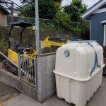 浄化槽取り替え工事👷